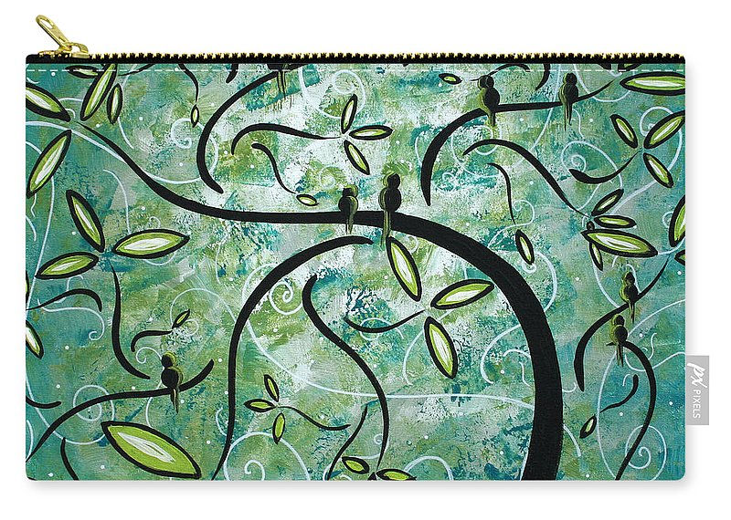 Wall Carry-all Pouch featuring the painting Spring Shine by MADART by Megan Duncanson