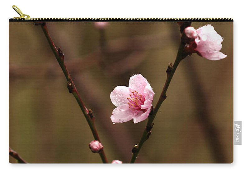 Cherry Blossoms Carry-all Pouch featuring the photograph Spring Showers by Art Block Collections