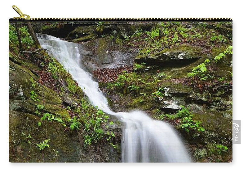 Waterfall Carry-all Pouch featuring the photograph Spring Showers by Deanna Cagle