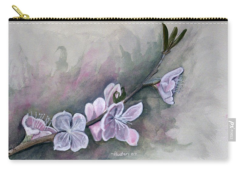 Rick Huotari Carry-all Pouch featuring the painting Spring Splendor by Rick Huotari