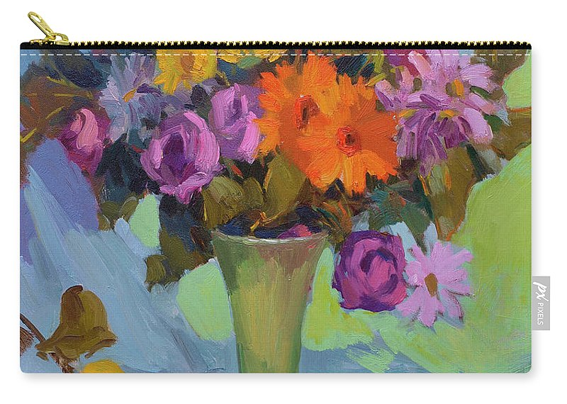 Spring Still Life Carry-all Pouch featuring the painting Spring Still Life by Diane McClary