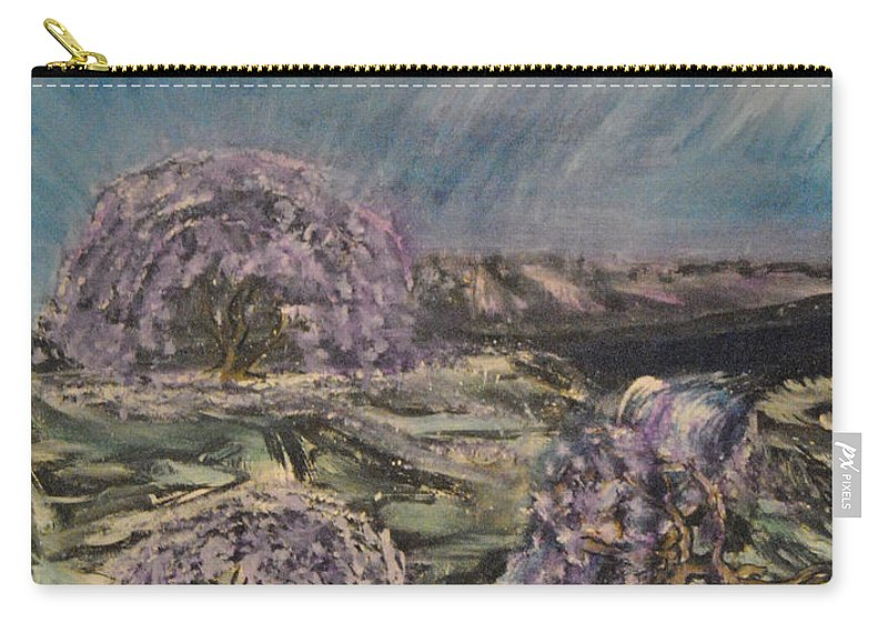 Magic Of Spring Carry-all Pouch featuring the painting Spring by Suzanne Surber