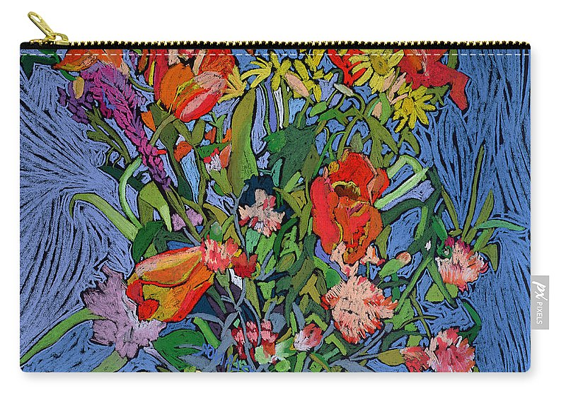 Flower Carry-all Pouch featuring the painting Spring Symphony by Frances Treanor