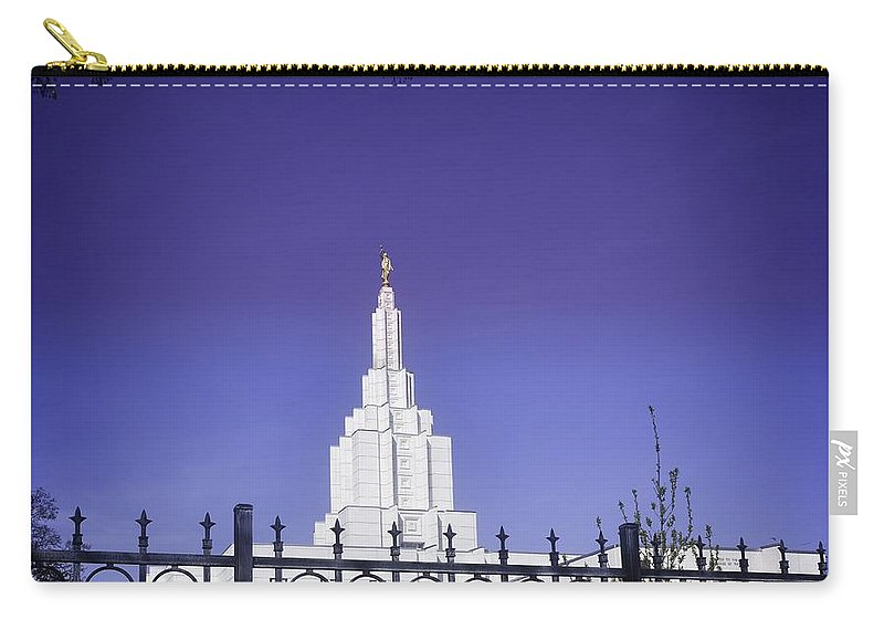 Idaho Falls Carry-all Pouch featuring the photograph Spring Time At The Idaho Falls Temple by Image Takers Photography LLC - Carol Haddon