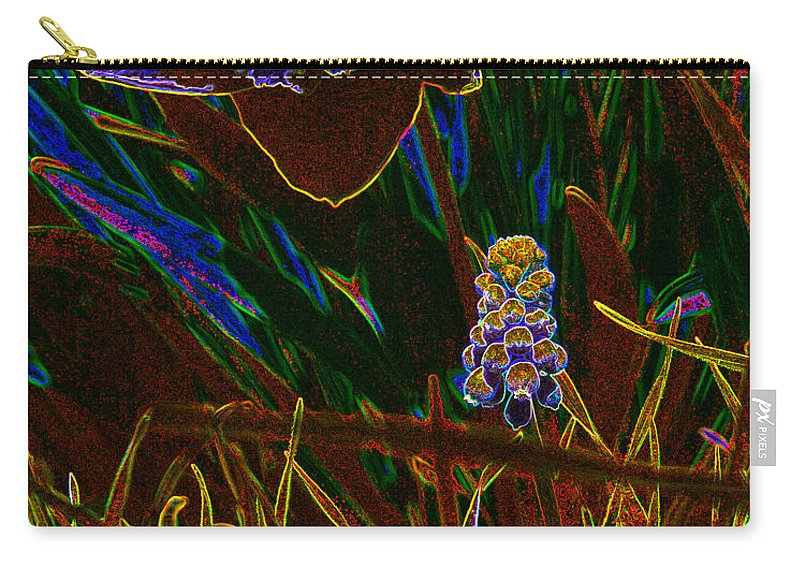 Flower Paintings Paintings Carry-all Pouch featuring the photograph Spring Time In Lillyput by Mayhem Mediums