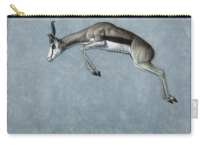 Springbok Carry-all Pouch featuring the painting Springbok by James W Johnson