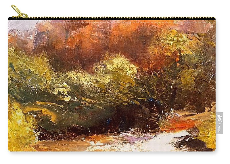 Landscape Carry-all Pouch featuring the painting Springs In The Desert by Gail Kirtz