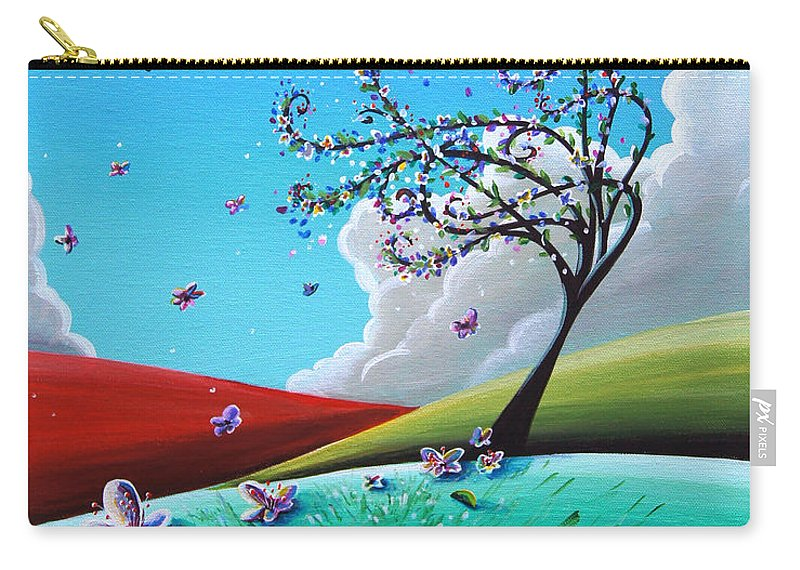 Tree Carry-all Pouch featuring the painting Springtime by Cindy Thornton