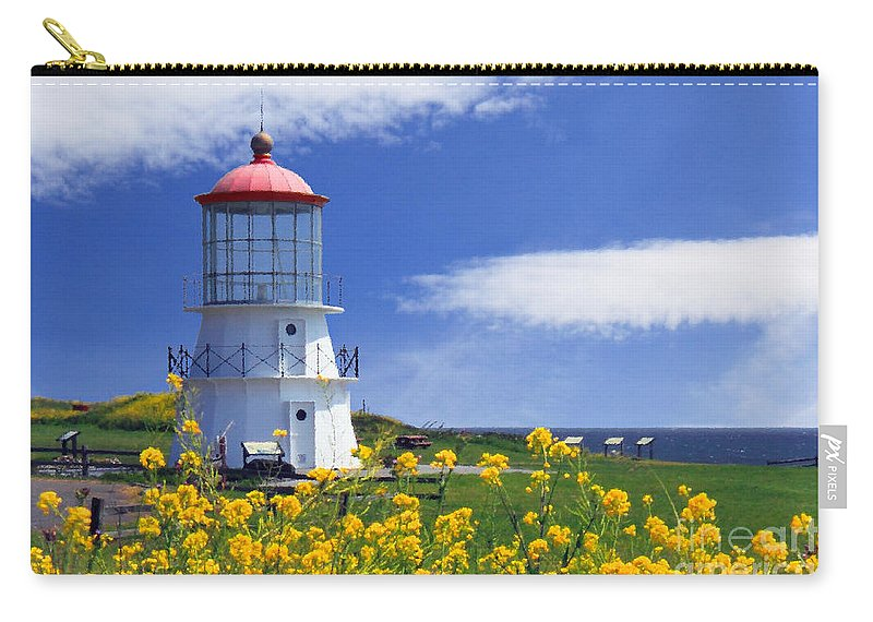 Lighthouse Carry-all Pouch featuring the photograph Springtime Lighthouse by James Eddy