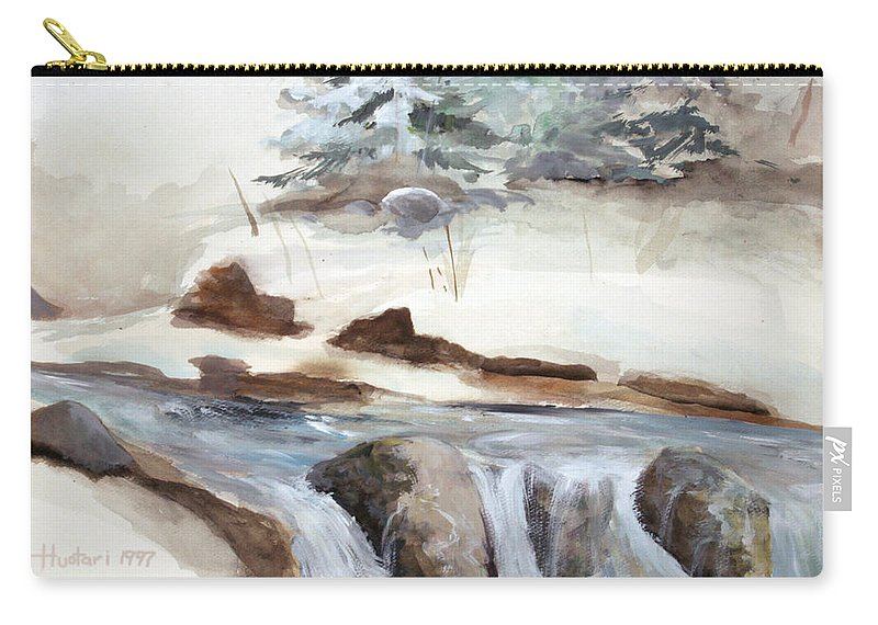 Rick Huotari Carry-all Pouch featuring the painting Springtime by Rick Huotari