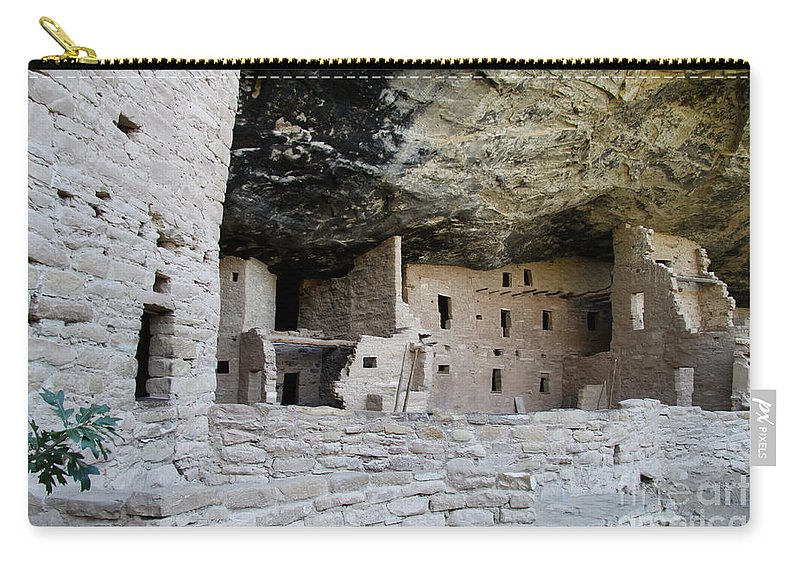 Spruce Tree House Carry-all Pouch featuring the photograph Spruce Tree House Archaeological Site by Christiane Schulze Art And Photography