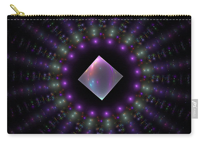 Fractal Carry-all Pouch featuring the digital art Square Peg Round Hole by GJ Blackman