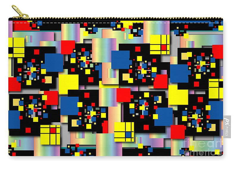 Abstract Carry-all Pouch featuring the digital art Squares and More Squares by George Pasini