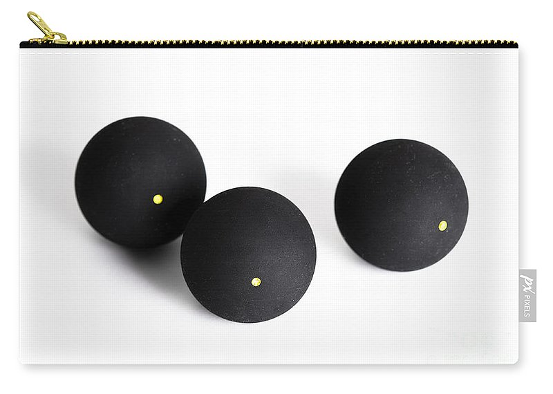 Squash Carry-all Pouch featuring the photograph Squash Balls Isolated by Lee Avison