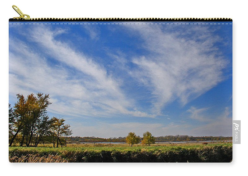 Landscape Carry-all Pouch featuring the photograph Squaw Creek Landscape by Steve Karol