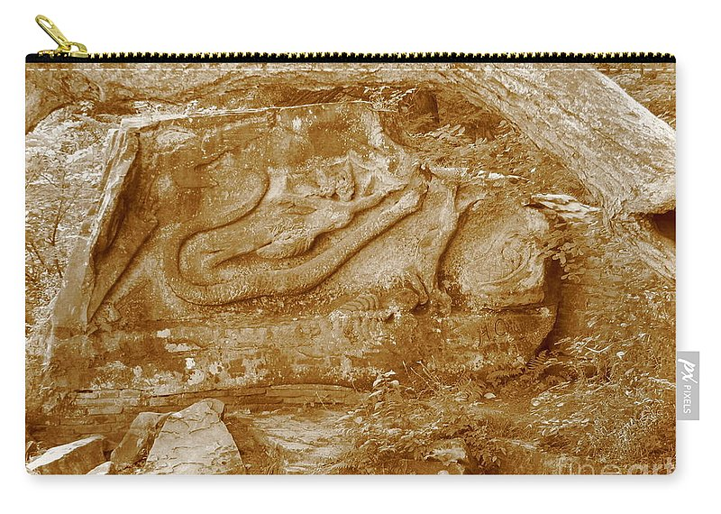 Squaw Rock Carry-all Pouch featuring the photograph Squaw Rock 2 by Michael Krek