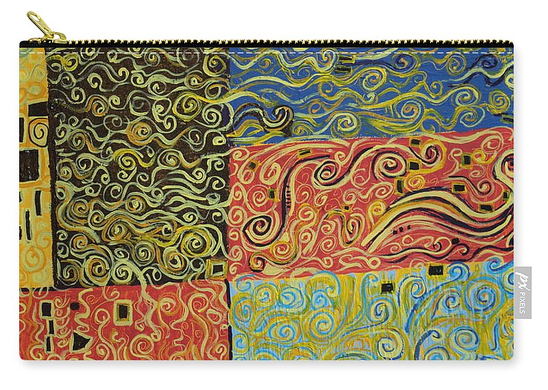 Impressionism Carry-all Pouch featuring the painting Squiggalution by Stefan Duncan