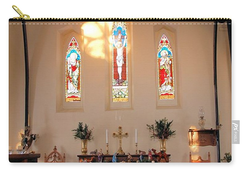 Apse Carry-all Pouch featuring the photograph St. Augustine Apse by Valerie Kirkwood