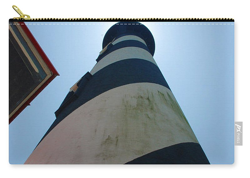 Lighthouse Carry-all Pouch featuring the photograph St. Augustine Lighthouse by Beverly Stapleton