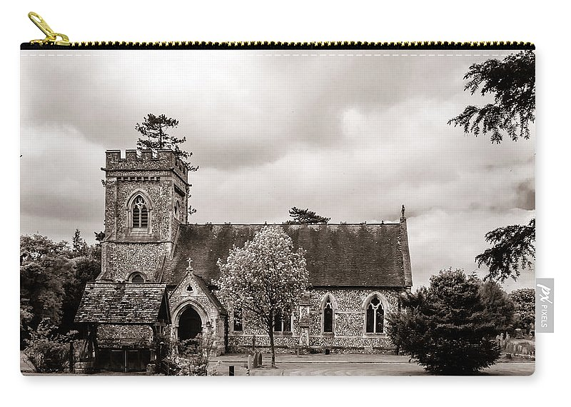 Aisle Carry-all Pouch featuring the photograph St Barnabas Faccombe by Mark Llewellyn