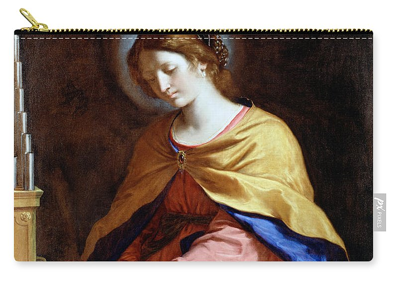 Guercino Carry-all Pouch featuring the painting St Cecilia by Guercino