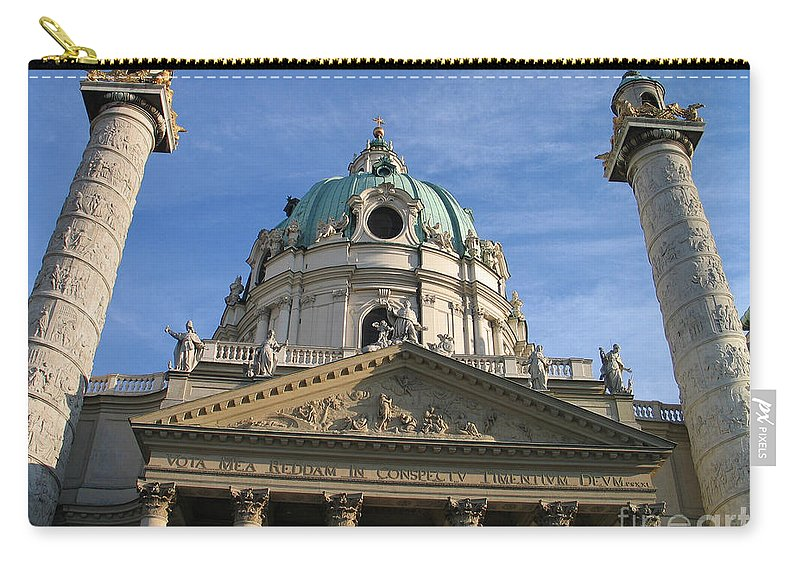 Karlskirche Carry-all Pouch featuring the photograph St Charles Church Vienna Austria by Jason O Watson