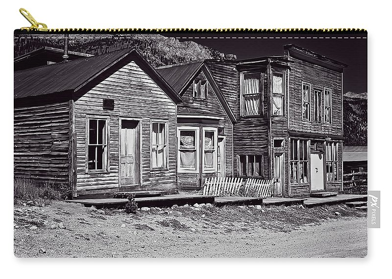 St Carry-all Pouch featuring the photograph St Elmo In Black And White by Charles Muhle