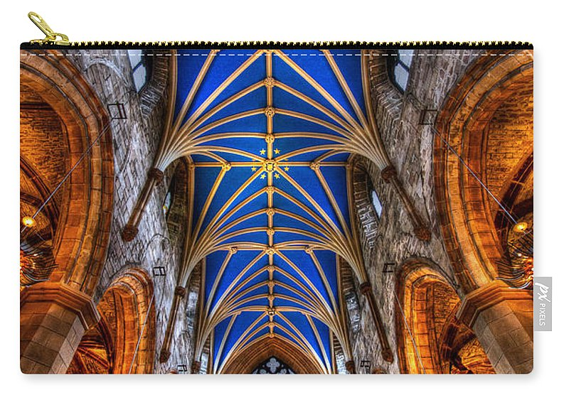 Edinburgh Carry-all Pouch featuring the photograph St Giles Cathedral Edinburgh by Jenny Setchell