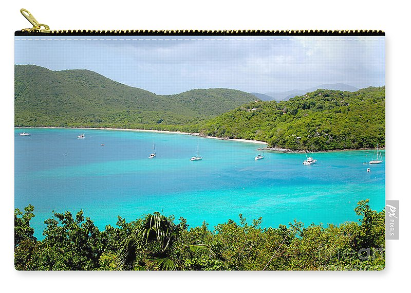Baths Carry-all Pouch featuring the photograph St John Beach by Carey Chen