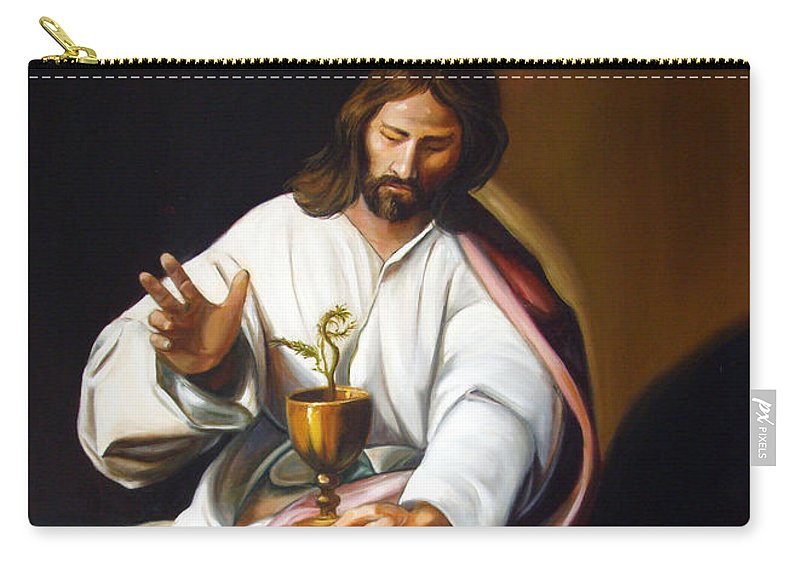 Classic Art Carry-all Pouch featuring the painting St John The Evangelist by Silvana Abel