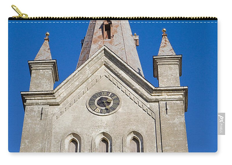 Travel Carry-all Pouch featuring the photograph St. John's Church Cesis by Jason O Watson