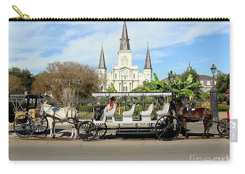 New Orleans Carry-all Pouch featuring the photograph St Louis Cathedral New Orleans by Ed Weidman