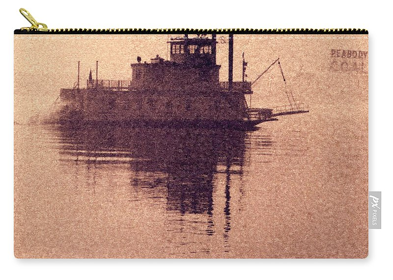 1966 Carry-all Pouch featuring the photograph St Louis Paddlewheeler by Garry McMichael