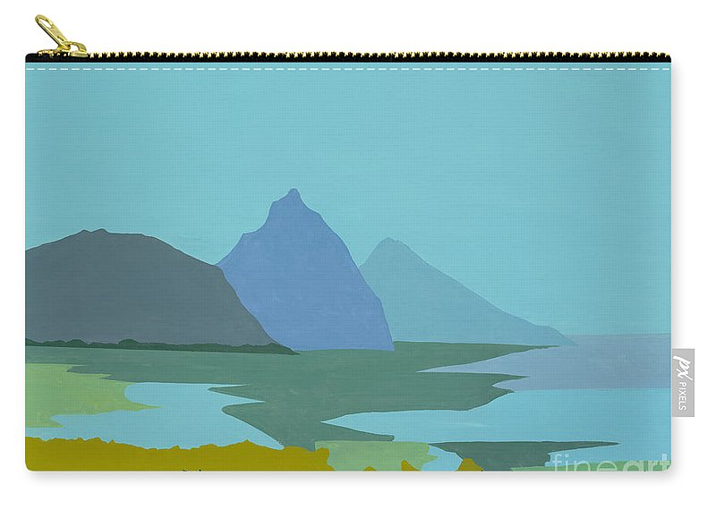 Canvas Prints Carry-all Pouch featuring the painting St. Lucia - W. Indies II by Elisabeta Hermann