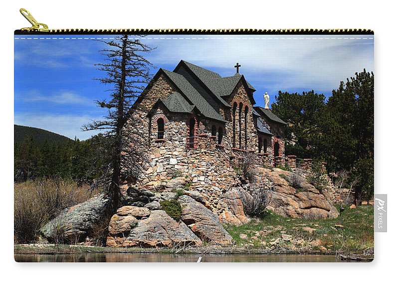 St. Malo Carry-all Pouch featuring the photograph St. Malo Chapel by Shane Bechler