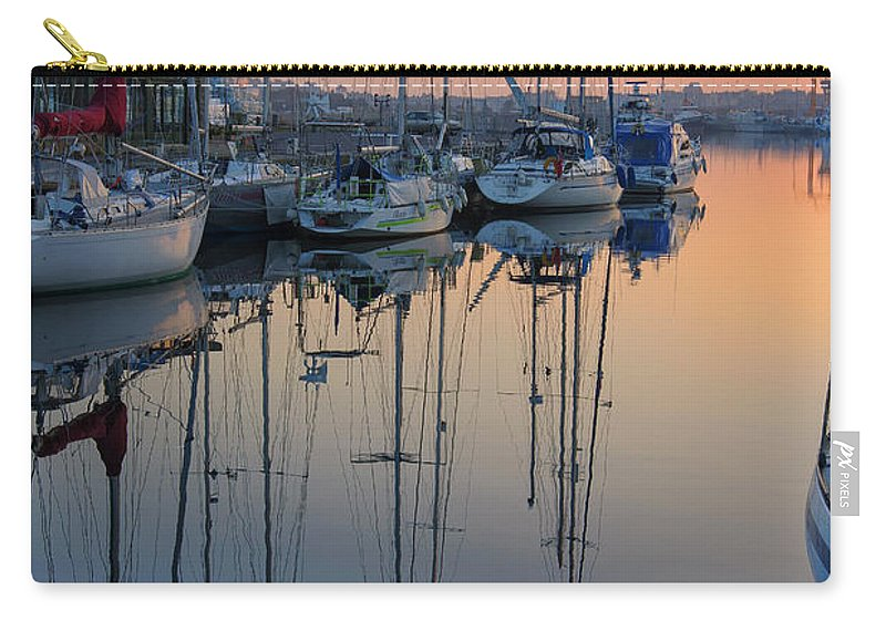 Boats Carry-all Pouch featuring the photograph St. Malo Sunrise Brittany France by Lumiere De Liesse Ltd Images of Robert L Lease
