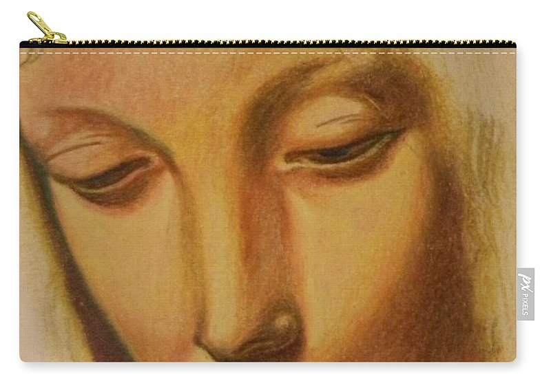 Carry-all Pouch featuring the drawing St. Mary by Jude Darrien