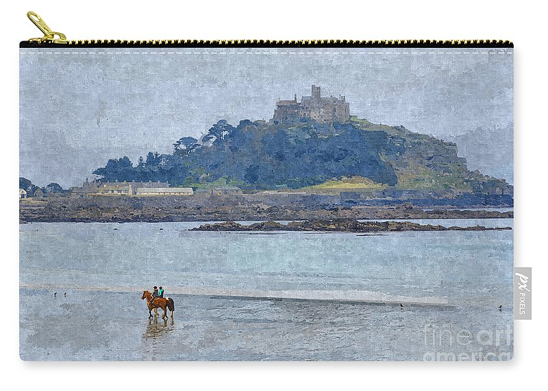 Cornwall Canvas Carry-all Pouch featuring the photograph St Michaels Mount by Chris Thaxter