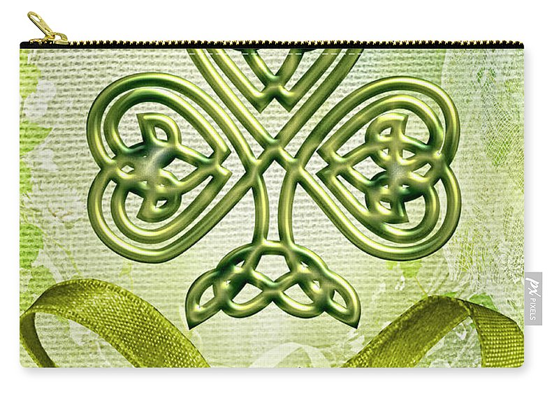St. Patty's Carry-all Pouch featuring the digital art St. Patty's by Mo T