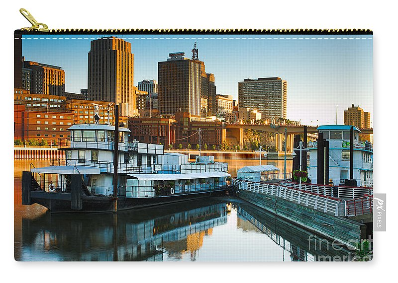 St Paul Carry-all Pouch featuring the photograph St Paul Tug by Joe Mamer