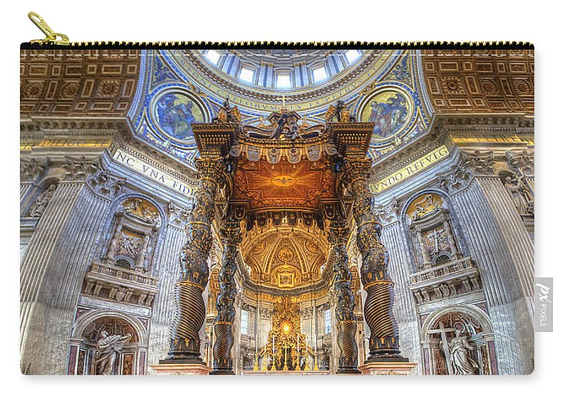 Yhun Suarez Carry-all Pouch featuring the photograph St Peter's Basilica by Yhun Suarez