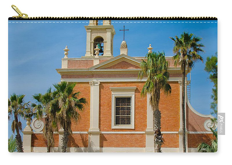 Israel Carry-all Pouch featuring the photograph St. Peter's Church In Jaffa by David Morefield