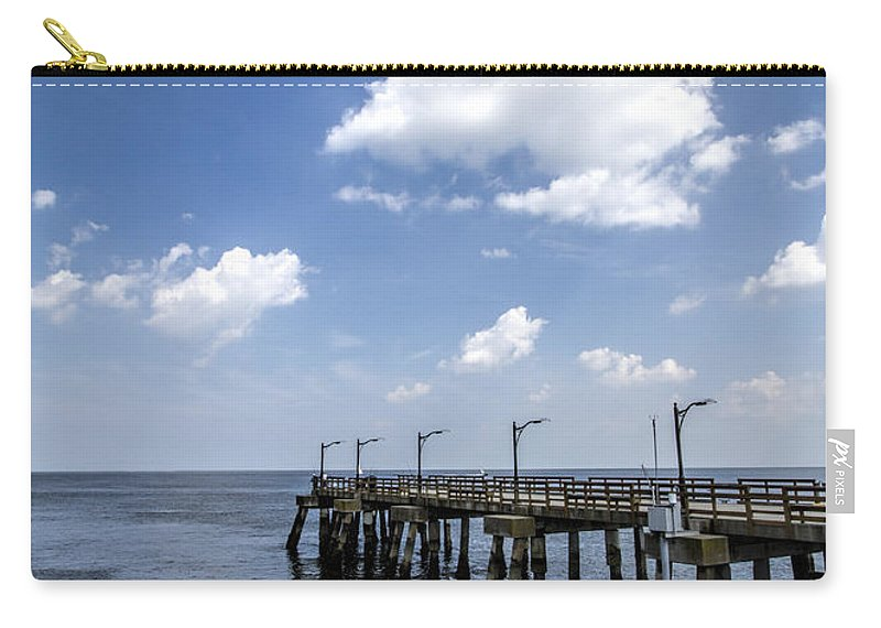 St Carry-all Pouch featuring the photograph St. Simon's Island Georgia Dock by Kathy Clark