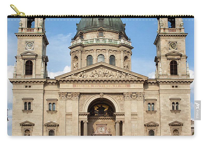 Architectural Carry-all Pouch featuring the photograph St. Stephen's Basilica In Budapest by Artur Bogacki