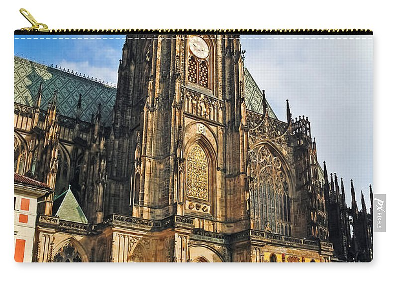 Travel Carry-all Pouch featuring the photograph St. Vitus Cathedral by Elvis Vaughn