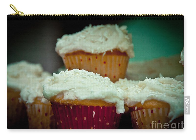 Cake Carry-all Pouch featuring the photograph Stacked Delights by Cheryl Baxter