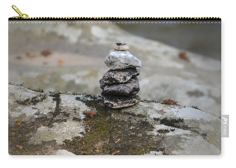 Stacked Carry-all Pouch featuring the photograph Stacked Stones by Bill Cannon