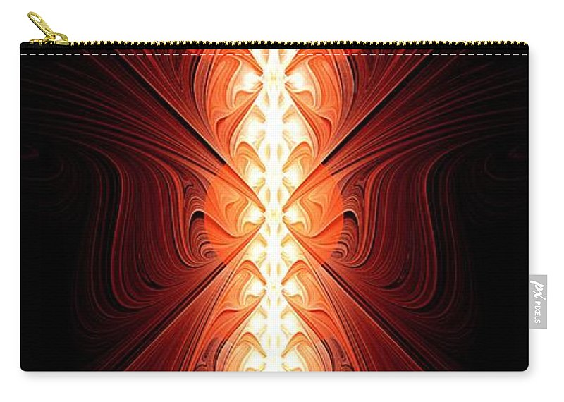 Enchanter Carry-all Pouch featuring the digital art Staff Of Fire by Anastasiya Malakhova