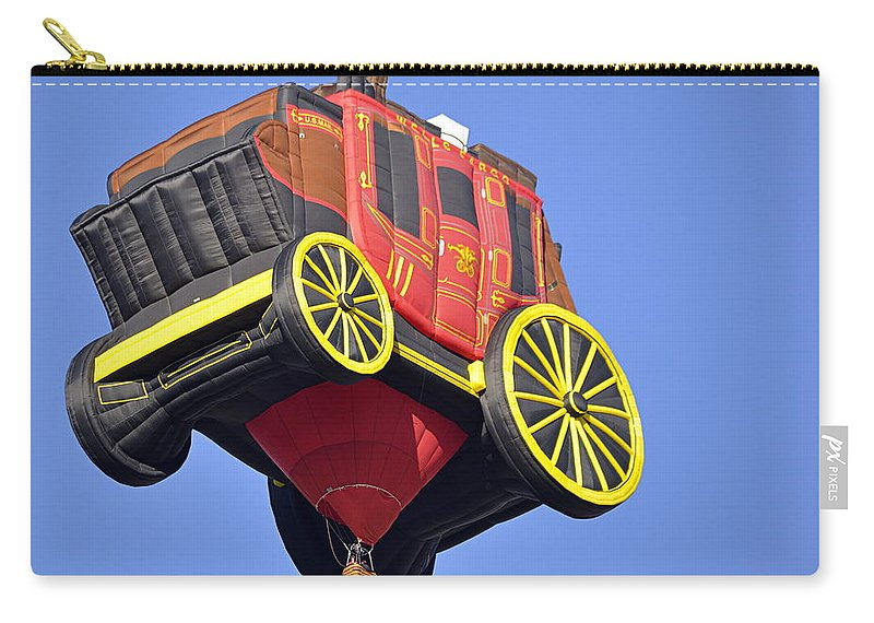 Sports Carry-all Pouch featuring the photograph Stagecoach In The Sky by AJ Schibig
