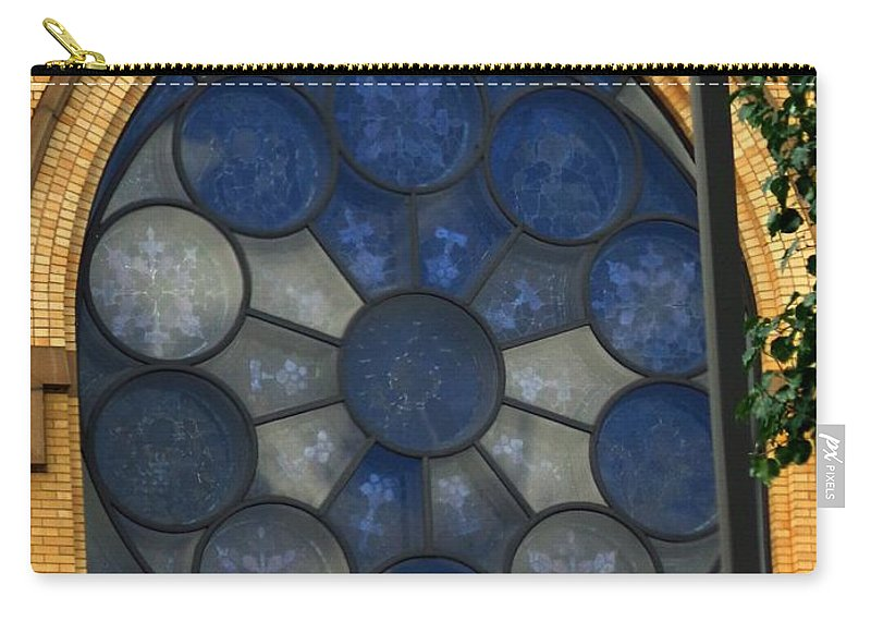 Window Carry-all Pouch featuring the photograph Stain Glass Church Window by Jannice Walker